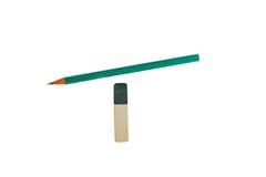 Ein einfacher Bleistift mit Führung und Radiergummi Stockbild