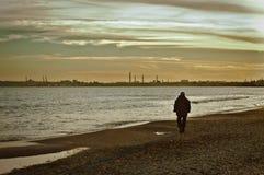 Ein einsamer Mann Stockfotografie