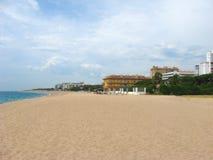 Ein einsamer Strand in Europa Stockfoto