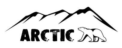 Ein Eisbär ist gefriert herein von der Arktis Lizenzfreie Stockbilder