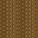 Geometrisches Sepia-Muster Stockbild