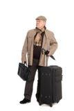 Ein elegantes Mann iwith Gepäck. Stockfotos