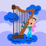 Harpist Lizenzfreie Stockfotos