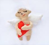 Ein Engel ist ein weiches Spielzeug Stockfotografie