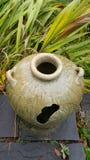 Ein englischer Garten: Ein Vase Stockbild