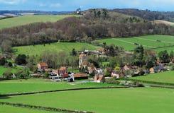 Ein englischer landwirtschaftlicher Hamlet in Oxfordshire Lizenzfreie Stockfotos