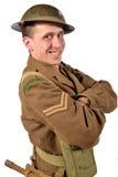 Ein englischer Soldat ist glücklich Lizenzfreie Stockbilder