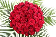Ein enormer Blumenstrauß von roten Rosen. Das lokalisierte Bild an Lizenzfreie Stockfotos