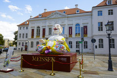 Ein enormes Maskottchen in Dresden Stockfotos