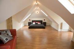 Ein Entwerferschlafzimmer Stockbild