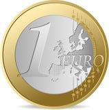 Ein Euro. Stockfotografie