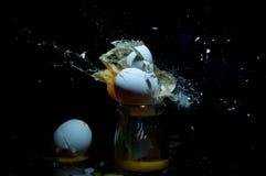 Ein explodierendes Ei Lizenzfreie Stockfotografie