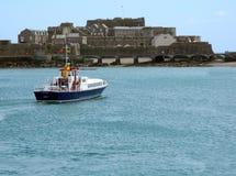 Ein Fähren-Angebot in Guernsey Stockfoto