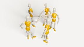 Ein für alle Teamwork Stockbild