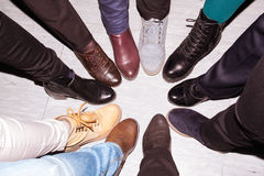 Ein für alle und alle für eins - Konzept der Teamwork Stockfotografie