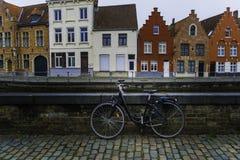 Ein Fahrrad in Brügge Lizenzfreie Stockfotos