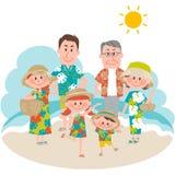 Ein Familienurlaub auf dem strandnahen Lizenzfreie Stockfotografie