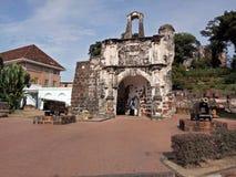 Ein Famosa, die portugiesische Festung in Melaka, Malaysia Stockfotografie
