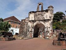 Ein Famosa, die portugiesische Festung in Melaka, Malaysia Lizenzfreies Stockfoto