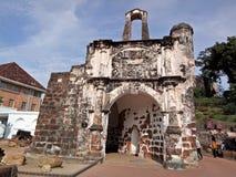 Ein Famosa, die portugiesische Festung in Melaka, Malaysia Lizenzfreie Stockfotografie