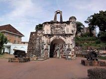 Ein Famosa, die portugiesische Festung in Melaka, Malaysia Lizenzfreies Stockbild