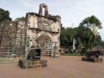 Ein Famosa, die portugiesische Festung in Melaka, Malaysia Stockbilder