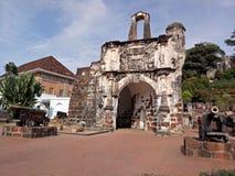Ein Famosa, die portugiesische Festung in Melaka, Malaysia Lizenzfreie Stockfotos