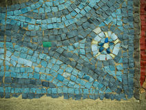 Ein farbiger dekorativer Pflastersteinhintergrund Stockbild