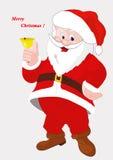 Ein farbiger Entwurf von Santa Claus vektor abbildung