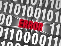 Ein Fehler versteckt sich in den Daten Lizenzfreie Stockbilder