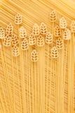 Ein Feld des Weizens, ein Begriffsbild von Teigwaren Stockbilder