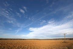 Ein Feld im Herbst Lizenzfreie Stockfotografie