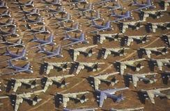 Ein Feld von B-52 Flugzeugen, Davis Montham Air Force Base, Tucson, Arizona Lizenzfreies Stockfoto