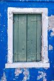 Ein Fenster in Burano Lizenzfreies Stockbild