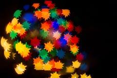 Ein festliches Kaleidoskop, ein helles Licht und greller Glanz Zusammensetzung von Lizenzfreie Stockfotos