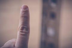 Ein Finger Lizenzfreie Stockfotos