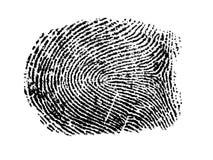 ein Fingerabdruck Lizenzfreie Stockbilder