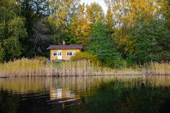 Ein finnisches summerhouse Stockbilder