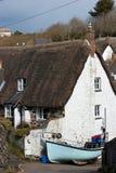 Cadgwith Bucht-Häuschen Cornwall Lizenzfreie Stockfotografie