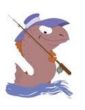 Ein Fischfischer stock abbildung