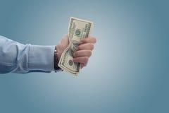 Ein fistfull der Dollar lizenzfreie stockbilder