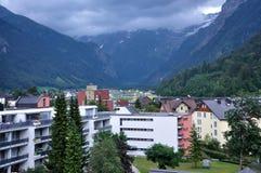 Ein flüchtiger Blick von Engelberg auf Alpen Stockbilder