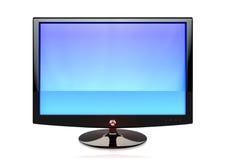 Ein flacher Bildschirm Fernsehapparat Lizenzfreie Stockbilder