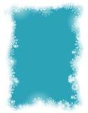 Ein flockiges Feld auf einem blauen Hintergrund Stockfoto