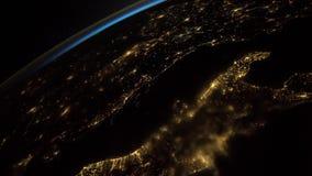 Ein Flug über der Erde-` s Oberfläche, genommen von einer Raumstation Elemente dieses Videos geliefert von der NASA lizenzfreie abbildung