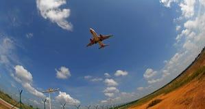 Ein Flugzeug stockfoto