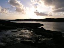 Ein Fluss des Lichtes auf der Insel von Harris, Schottland, Großbritannien Lizenzfreies Stockfoto