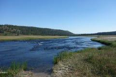Ein Fluss an Yellowstone-Park Lizenzfreies Stockfoto