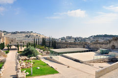 Altes Jerusalem der Tempelberg Lizenzfreie Stockfotografie