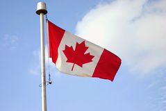 Ein Foto von Kanada-Flagge Stockfotos